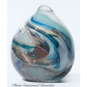 Vase bleu/blanc